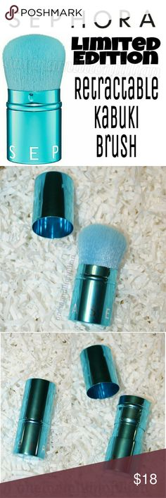 Sephora Retractable Kabuki Brush New - Never Used  Full Sz & Authentic  Color: Turquoise  A versatile, retractable kabuki brush in vivid, metallic turquoise.   Soft, pretty & perfect for allover application, this medium-sized brush is an ideal travel companion. The retractable design keeps the brightly colored bristles protected & clean. The high-quality hairs are perfect for adding a little glow on the go, contouring with allover powder & applying shimmer powders on the décolleté. Sephora…