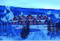 Ritz Carlton Club in Bachelor Gulch - nestled up in the mountains; wonderful lodge atmosphere; easy ski-in ski-out; also wonderful in the summer and fall! I could live here.