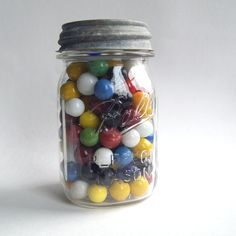 Visual reward system to motivate children to do chores etc....when marble jar is full (or half full...parent decides) then child can choose a reward that is not always monetary. You can have the kids decorate the jars ahead of time to make it more personal to them too.