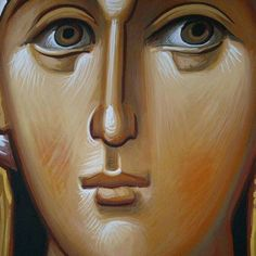 Face detail Byzantine Art, Painting Style, Madona, Paint Icon, Byzantine Icons, Christian Art, Art Icon, Face Drawing, Sacred Art