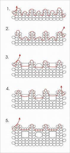 a scheme for Herringbone windows pattern