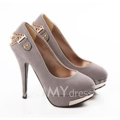 $14.22 Work Women's Spring Pumps With Suede Sequins and Rhinestone Design