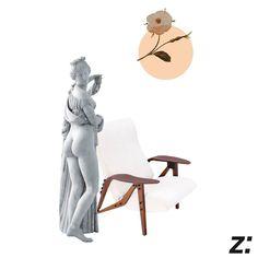 Poltrona | Armchair GILDACollage by Leonardo SonnoliCome una Venere... Gilda rappresenta semplicità e bellezza.Like a Venus…Gilda stands for simplicity and beauty.