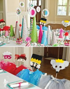 Nutcracker inspired kids Christmas table with DIY paper trees #holidayentertaining