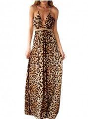 Chic Spaghetti Strap Maxi Dress