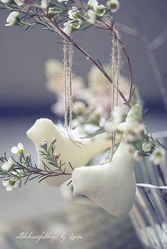 bird ornaments for spring decor