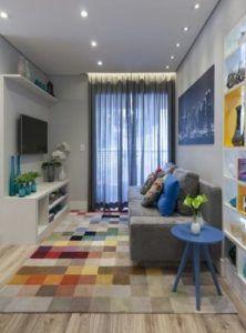 70 Modelos De Decoração De Sala Pequena Para Inspirar. Narrow Living  RoomSmall ...