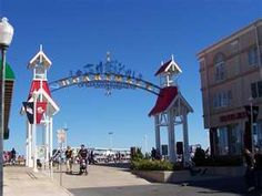 The boardwalk in Ocean City, Maryland