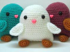 Amigurumi Bird Plush Toy in White