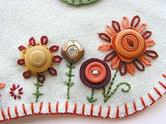 embroidery and buttons!