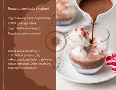 gorąca czekoladaz lodami #czekolada #lody #przepis #kawiarnia #deser