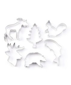 woodland cookie cutters. these would be great, without frosting, just in natural cookie colors, maybe some powdered sugar
