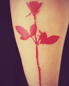 Finally got my Depeche Mode tattoo!!! Enjoy the Silence - Violator Rose