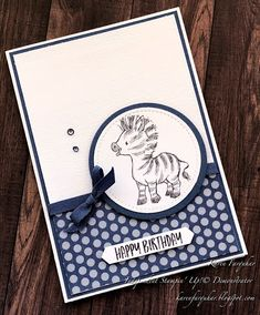 Kids Birthday Cards, Animal Cards, Card Sketches, One Design, Zebras, Kids Cards, Homemade Cards, Stampin Up Cards, Paper Crafting