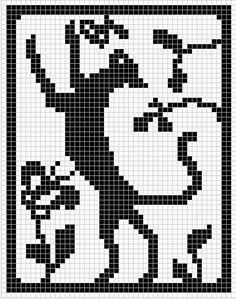 Ravelry: Standing Cat Chart,free pattern by Melanie Nordberg