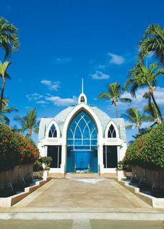 Wedding chapels near the sea: Ko Olina Resort in Hawaii