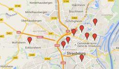 Carte des points de vente des jus de fruits « Moi moche et bon »