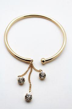 Gold Metal High Arm Cuff Bracelet Skinny Wrap Around Drop New Women Fashion Jewelry Accessories