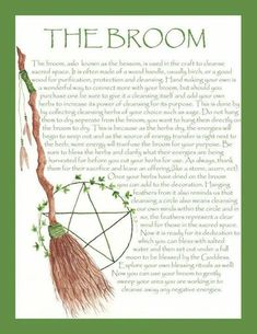 I'm not necessarily into Wicca, yet I do like a lot of the earthiness of it, and find this to be a neat idea to metaphorically sweep away your 'troubles'. Wiccan Spells, Magick, Witchcraft, Wiccan Crafts, Eclectic Witch, Witch Broom, Practical Magic, Book Of Shadows, Books