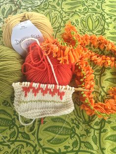 Beryl's Fairisle uses the oranges and greens of the flowers in the grounds of the Green Hotel.