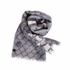 Bufanda de la marca francesa Anna & Co  mezcla de lana, seda y nacar.