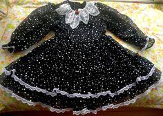 80s Black and White Ruffle Dress 4/5 by lishyloo on Etsy, $18.00