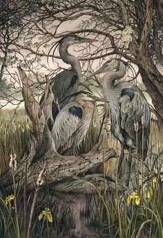 Lily Seika Jones - The Moirai Print Art And Illustration, Antique Illustration, Potnia Theron, Fairytale Art, Beautiful Drawings, Wildlife Art, Fantasy Artwork, Watercolor And Ink, Bird Art