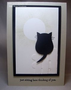 """Owl Builder Punch Black Cat-for a swap card theme """"friendship"""" using the Owl Builder Punch"""