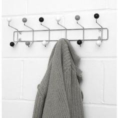 Coat Hook Multiple Coat Hooks Hanger Large - Atomic Black White Grey: Amazon.co.uk: Kitchen & Home