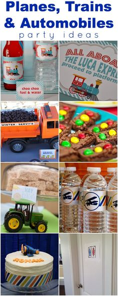 We Heart Parties | Planes, Trains & Automobile Party Ideas (pin this if your little guy likes all things that GO!)