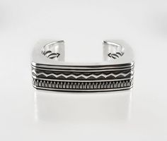 Hollow Sterling Silver Bracelet by Lyle Secatero (Navajo)