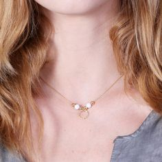 opal necklace October opal necklace 14k gold filled  luck by Avnis