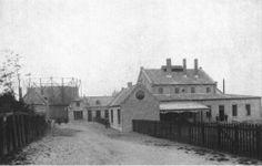 Gashouder van het oude gasfabriek op de dwinger van het Noorderbolwerk in Dokkum