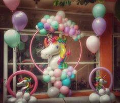 Tea Party Birthday, Unicorn Birthday Parties, Birthday Balloons, Unicorn Party, Balloon Decorations Party, Birthday Party Decorations, Party Themes, Party Ideas, Carousel Party