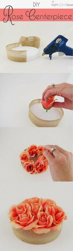 DIY Rose Centerpiece!