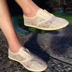 Rocket Dog Georgette Sunny Crochet Fabric Slip-Ons. #RocketDog #Shoes