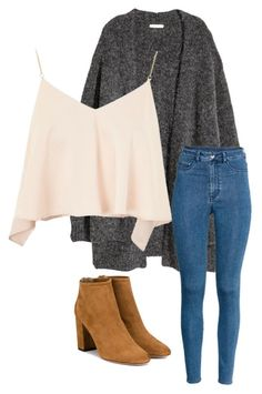 Untitled #3 by kahleacia-1 on Polyvore featuring polyvore, fashion, style, H&M, Topshop, Aquazzura and clothing