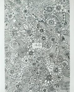 #flowers #art #artsy #drawing #blackandwhite #to_lahtinen #nature #decoration