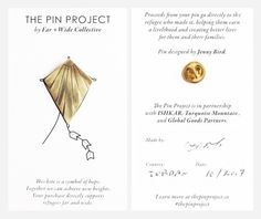 The Pin Project - what you receive when you help the refugee crisis | Bauble Stories