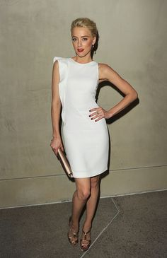 Amber Heard Strappy Sandals - Amber Heard Shoes Looks - StyleBistro