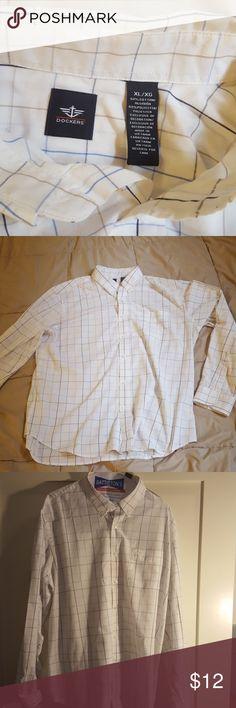 Dockers Checkered Dress Shirt Like new Dockers Checkered dress shirt. Worn only a couple times. Dockers Shirts Dress Shirts