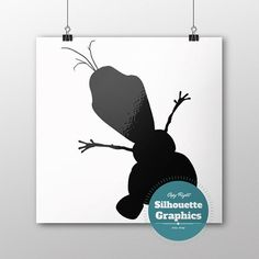 olaf silhouette file svg eps disney font by SilhouetteGraphics