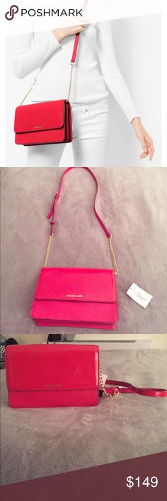 "NWT! MICHAEL KORS Daniela patent leather crossbody Brand new with tags and stuffing! In ""Dark Sangria""                                    • 100% patent Leather • Gold-Tone Hardware  • 9.5""W X 6.25""H X 2""D  • Adjustable Strap: 22""-24.75""  • Lining: 100% Polyester  • Magnetic Snap Fastening  • Imported Michael Kors Bags Crossbody Bags"