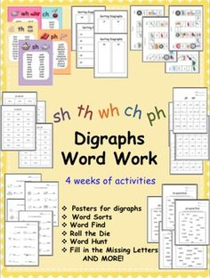 4 weeks of digraph activities