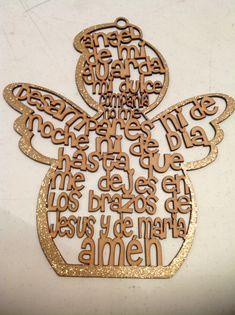 Angel de la guarda mediano ya pintadito de dorado
