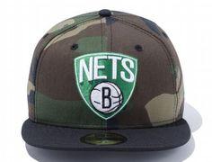 Brooklyn Nets Woodland Duck x Shamrock 59Fifty Fitted Baseball Cap by NEW ERA x NBA