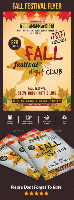 Fall Festival Flyer Templates Flyer Template Template And Party Flyer