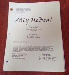"""ALLY MCBEAL Show Original Script """"The Affair"""" David E. Kelly Calista Flockhart"""