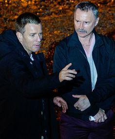 Ewan McGregor and Robert Carlyle on set of Trainspotting 2 on June 2016 in Edinburgh,Scotland Trainspotting 2, Stargate Universe, Rumpelstiltskin, Robert Carlyle, Ewan Mcgregor, Real Man, Ouat, On Set, Tv