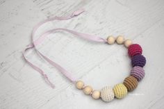 Crochet Nursing/Teething Necklace (Take Two) - Repeat Crafter Me